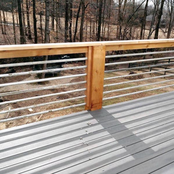 Metal Deck Railing Backyard Design