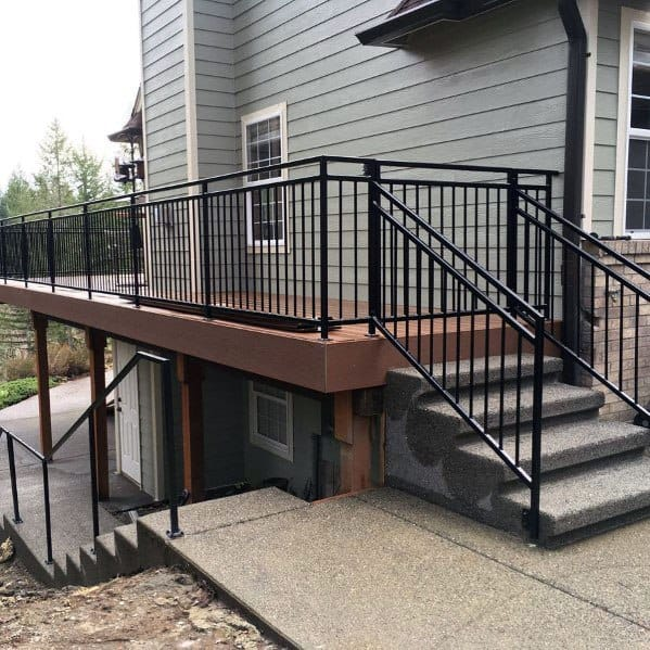 Metal Deck Railing Home Designs