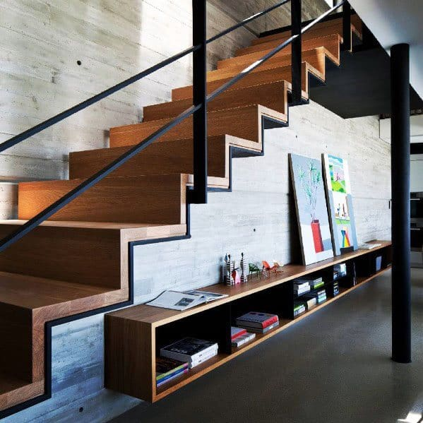 Metal Detailed Ideas Stair Railing