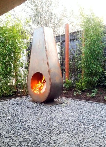 Metal Fire Pit Fireplace Design Inspiration