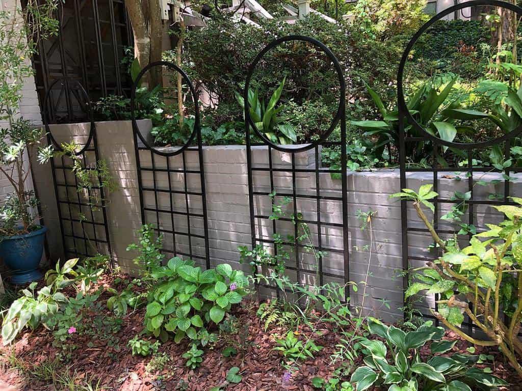 metal garden trellis ideas willadsendesign