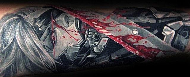 Metal Gear Tattoo Designs For Men