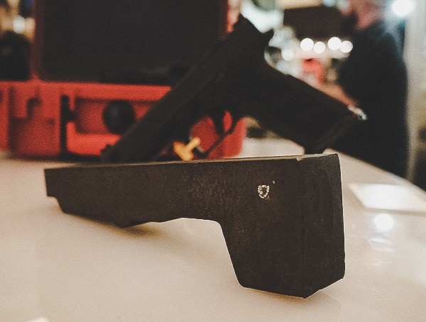 Metal Handgun Frame Unmachined Block