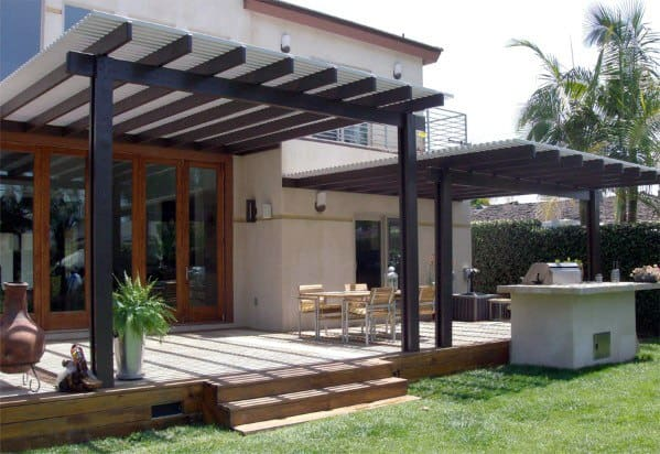 Metal Ideas For Patio Roof Backyard