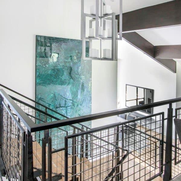Metal Mesh Wire Stunning Interior Stair Railing Designs