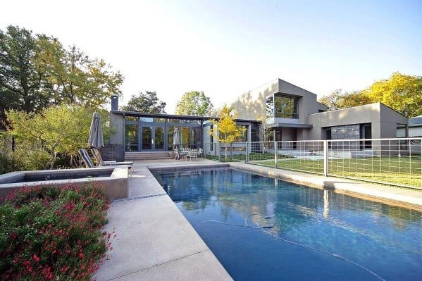 Metal Modern Luxury Pool Fence Ideas