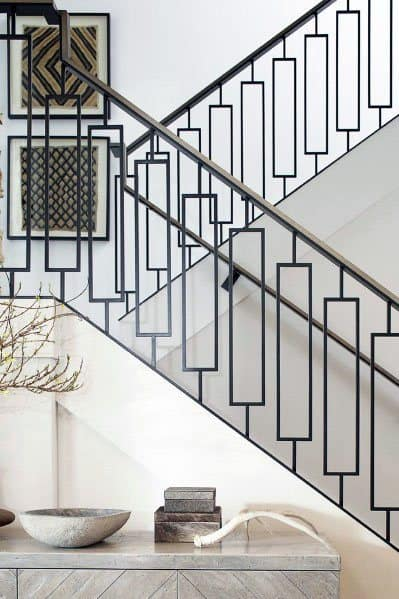 Metal Pattern Home Stair Railing Ideas