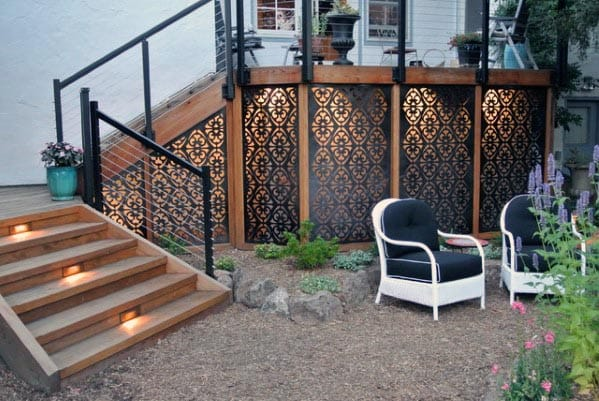 Metal Pattern Mesh Deck Skirting Ideas