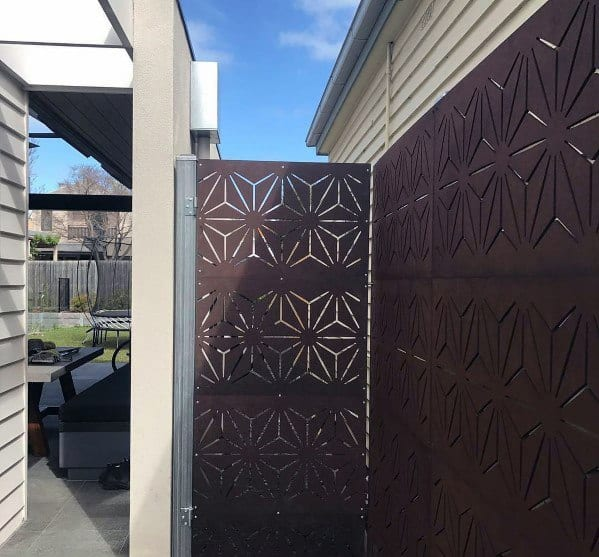 Metal Pattern Privacy Fence Ideas Inspiration