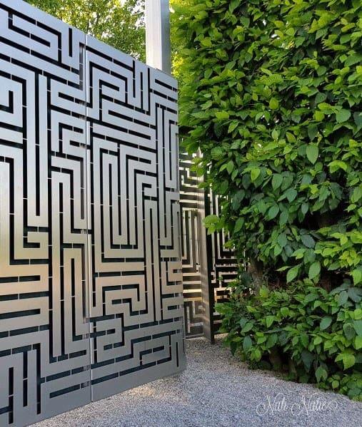 Metal Patterns Modern Fence Ideas