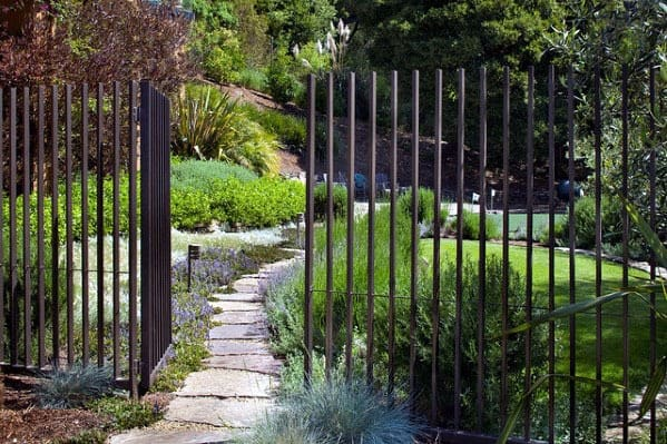 Metal Post Impressive Dog Fence Ideas