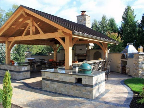 Metal Roof Amazing Backyard Pavilion Ideas