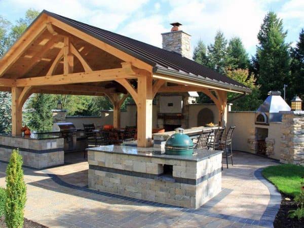 Metal Roof Amazing Backyard Pavilion Ideas