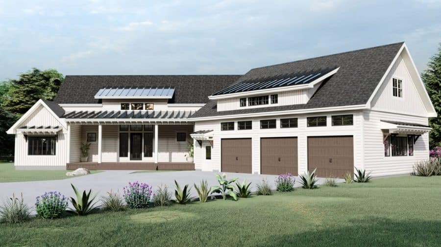 Metal Roof Modern Farmhouse Exterior Hrdhomes