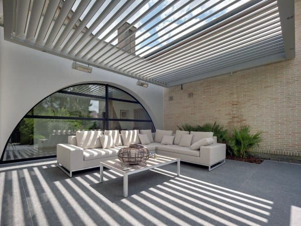 Metal Slats Exceptional Patio Roof Ideas
