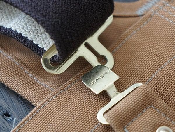 Metal Suspender Closure Carhartt Quilt Lined Zip To Thigh Bib Overalls