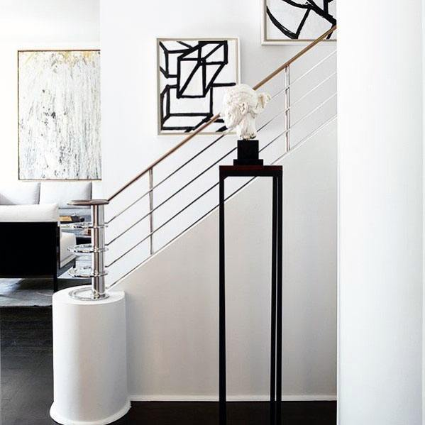 Metal Ultra Modern Staircase Railing Ideas