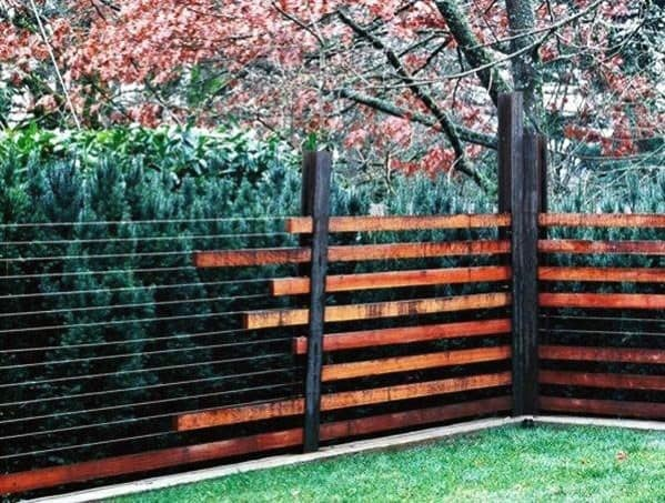 Metal Wire With Wood Ideas For Dog Fence
