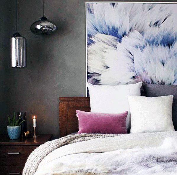 Metallic Glass Pendants Bedroom Lighting Home Ideas