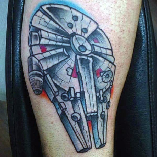Metallic Star Wars Tattoo Male Arms
