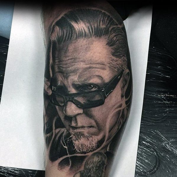 Metallica Portrait 3d Tattoo On Men