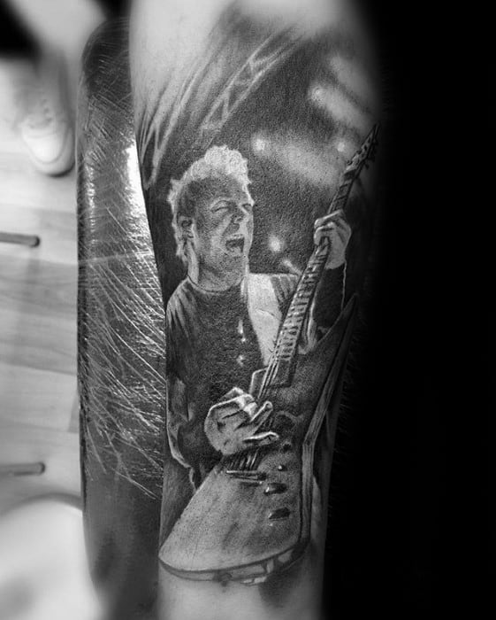 Metallica Tattoos For Gentlemen