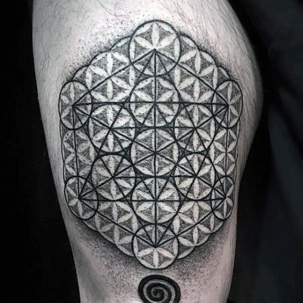 Metatrons Cube Guys Tattoo Designs