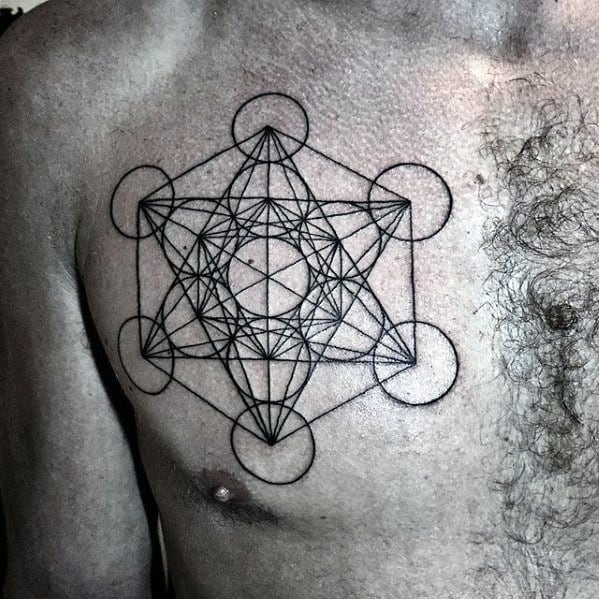 Metatrons Cube Male Tattoo Designs