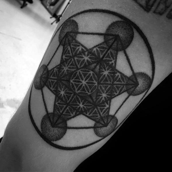 Metatrons Cube Mens Tattoo Designs