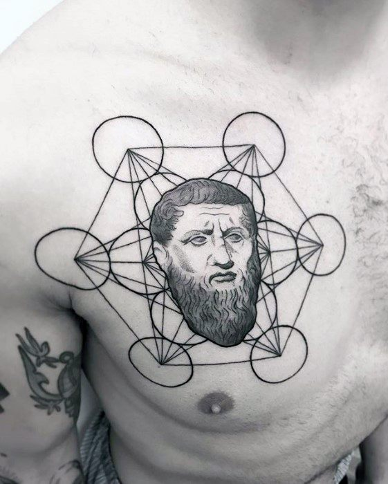 Metatrons Cube Mens Tattoo Ideas