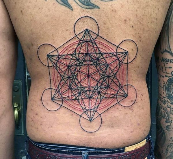 Metatrons Cube Tattoo Design On Man