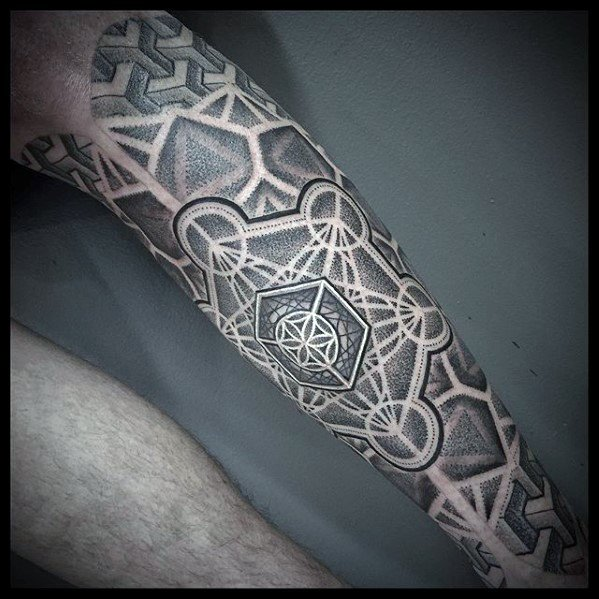 Metatrons Cube Tattoo Ideas For Males