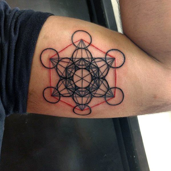 Metatrons Cube Tattoos Male