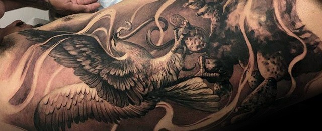 50 mexican eagle tattoo designs for men manly ink ideas rh nextluxury com mexican eagle tattoo on wrist mexican eagle tattoos gang