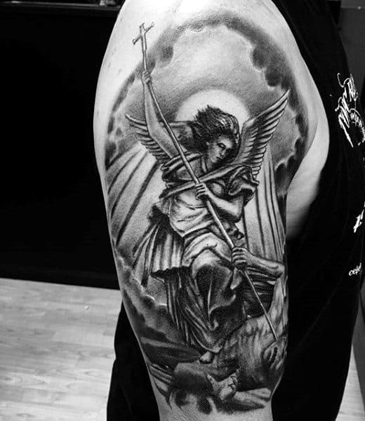 Michael Angel Tattoo Designs For Males