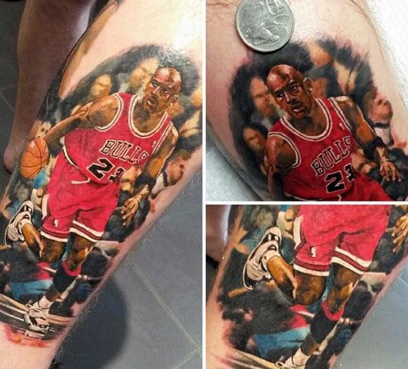 Michael Jordan Guys Basketball Plyer Realistic Arm Tattoo