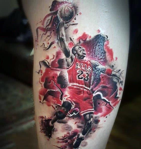 Michael Jordan Tattoos Of Basketball For Men