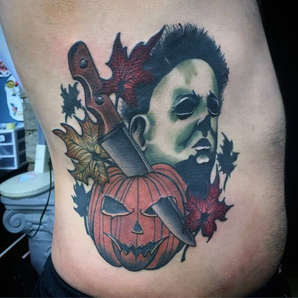Michael Myers Mens Tattoos