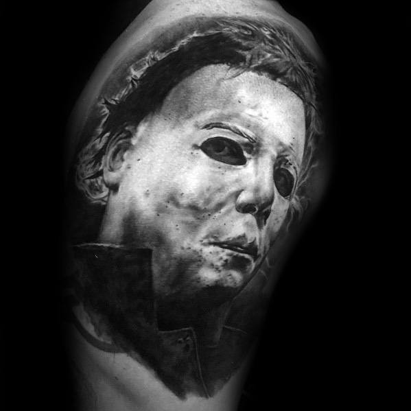 Michael Myers Tattoo Designs On Men