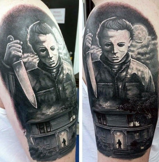 Michael Myers Tattoo For Males