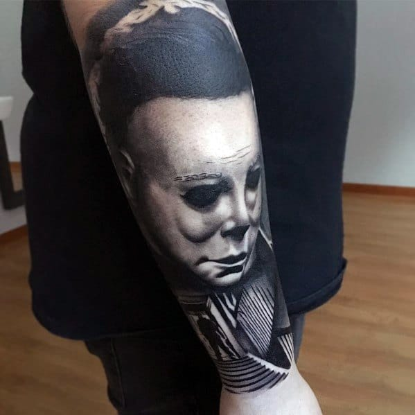 Michael Myers Tattoo For Men