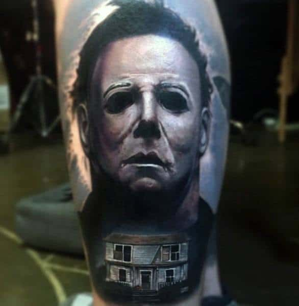 Michael Myers Themed Tattoo Design Inspiration