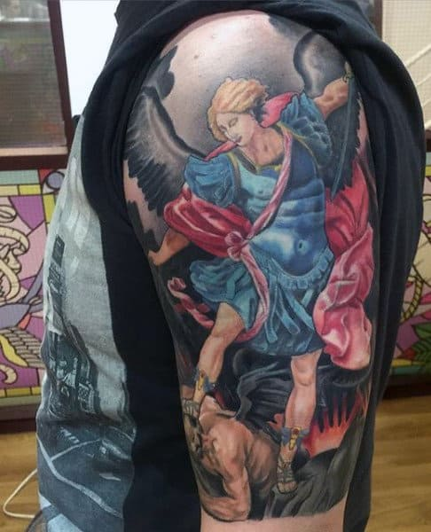 Micheal The Archangel Tattoo For Guys