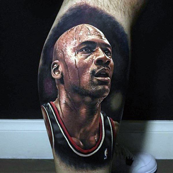 Micheal Jordan Basketball Mens Tattoo With Sports Design