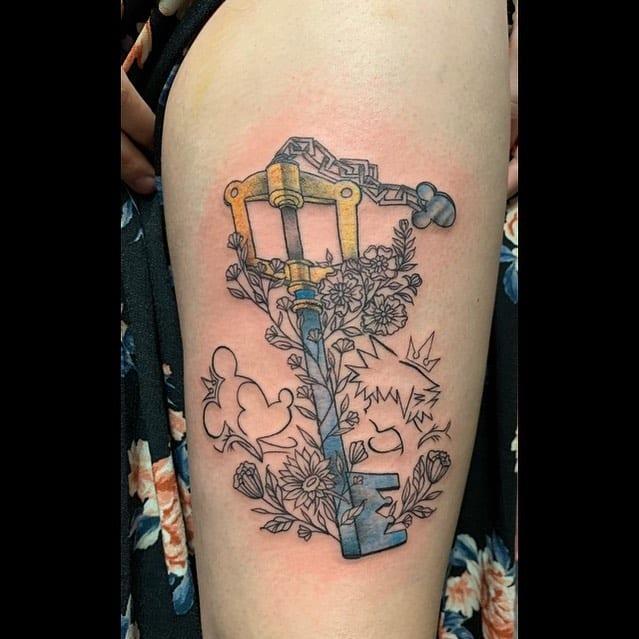 Mickey Mouse Kingdom Hearts Tattoo