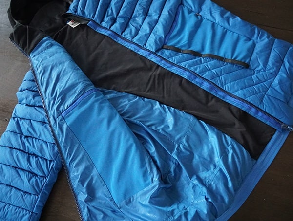 Mid Layer Mens Blackyak Bakosi Jacket In Snorkel Blue Interior Look