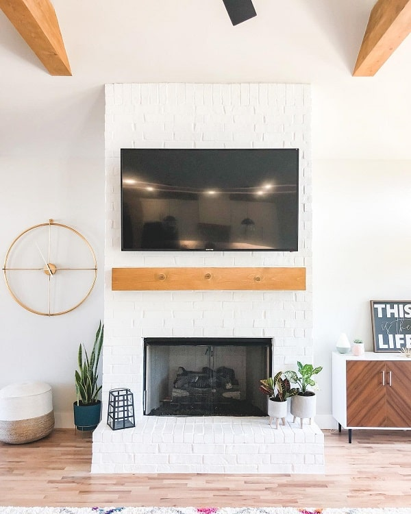 Midcentury White Fireplace Surround Thephillipsfarmhouse