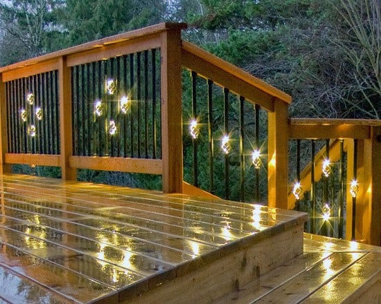 Middle Of Rod Railing Supports Ideas Deck Lighting