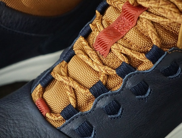 Midnight Navy Arrowood 2 Mid Waterproof Sneaker Mens Boot Lace Details