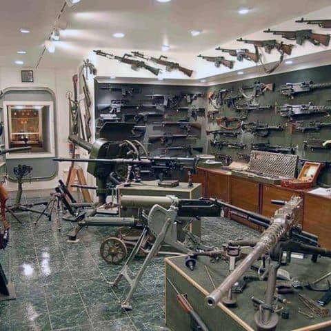 Military Collectors Firearm Room Design Ideas